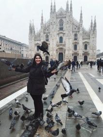 Mailand_Duomo_Vögel